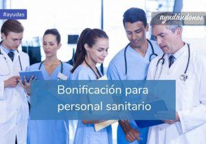 Bonificación para personal sanitario