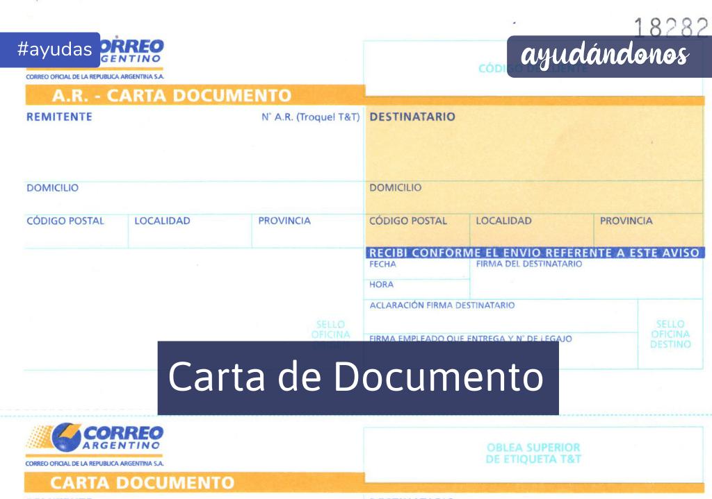 Carta de documento