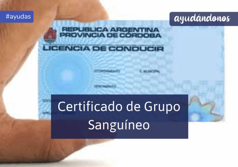 Certificado de Grupo Sanguíneo