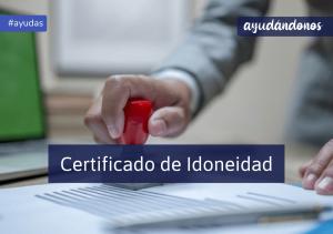 Certificado de Idoneidad