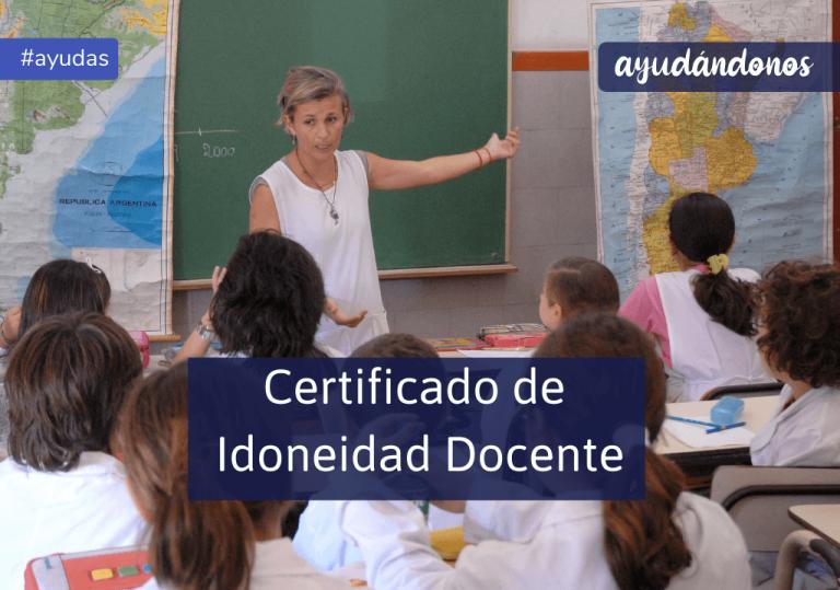 Certificado de Idoneidad Docente