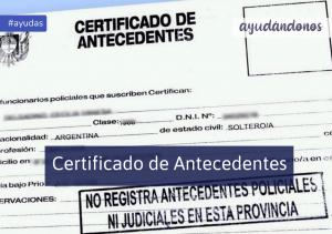 certificado de antecedentes