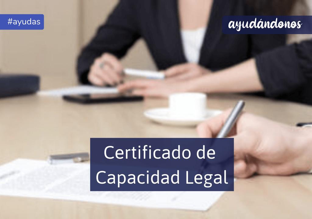 Certificado de capacidad legal