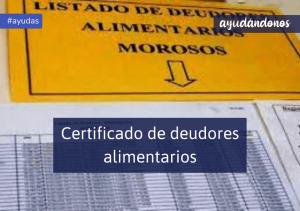 Certificado de deudores alimentarios
