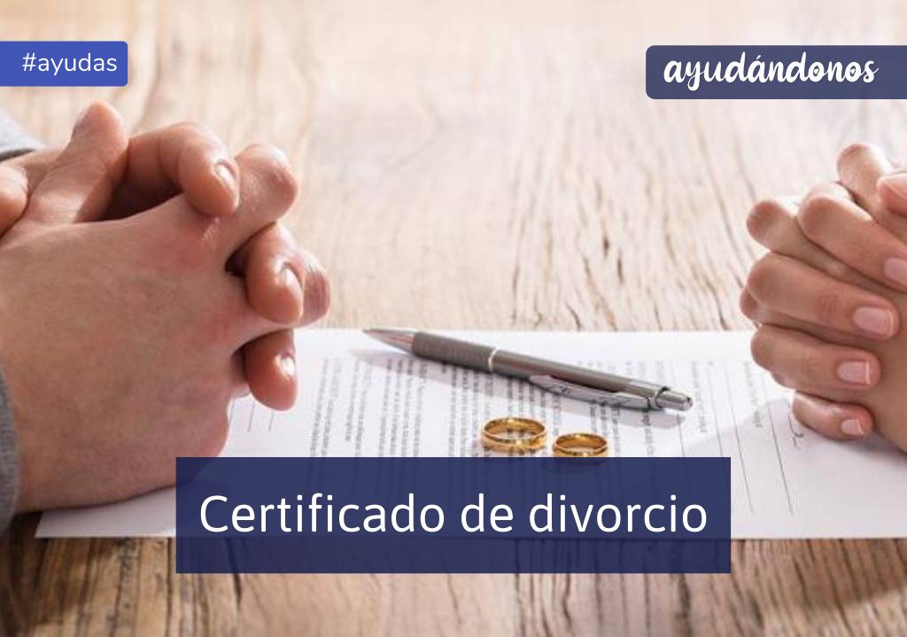 Certificado de divorcio
