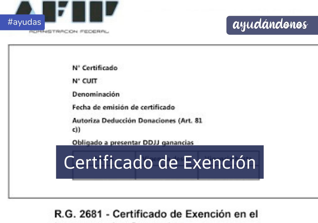 Certificado de exención