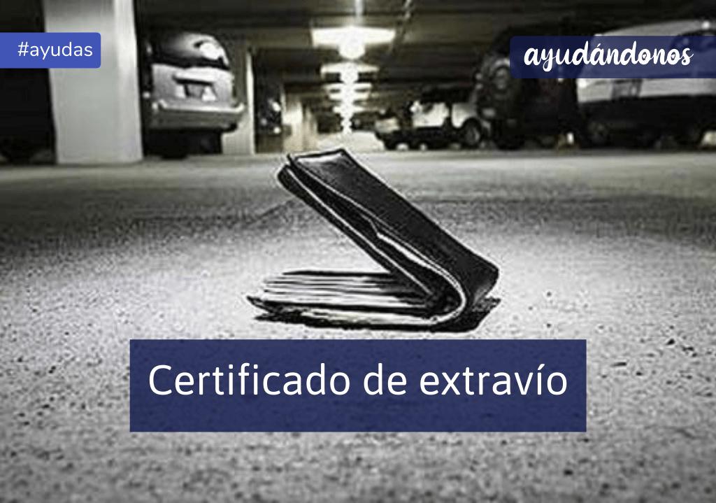 Certificado de extravío