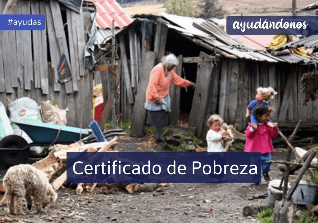Certificado de pobreza