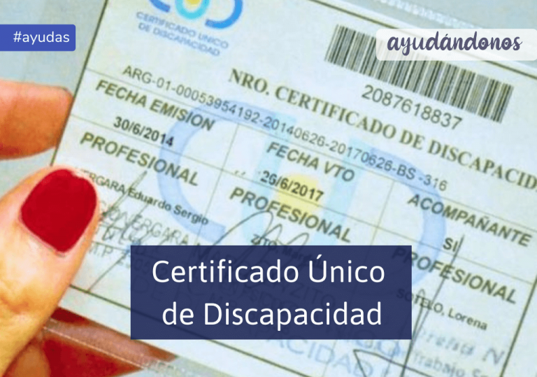CUD Certificado único de discapacidad