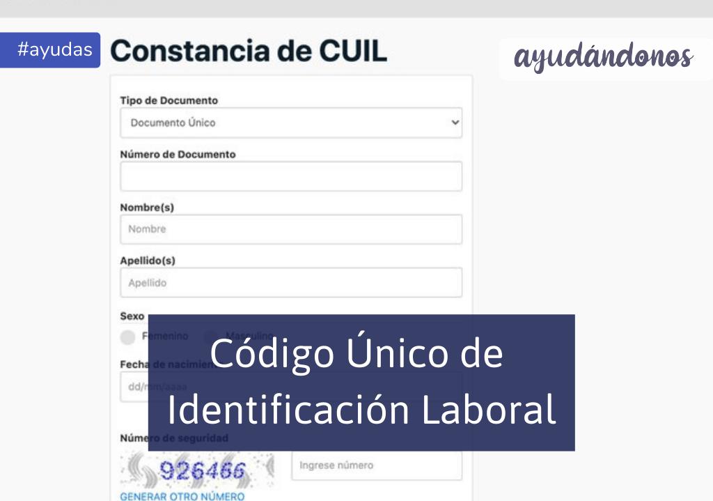 CUIL Clave única de identificación laboral