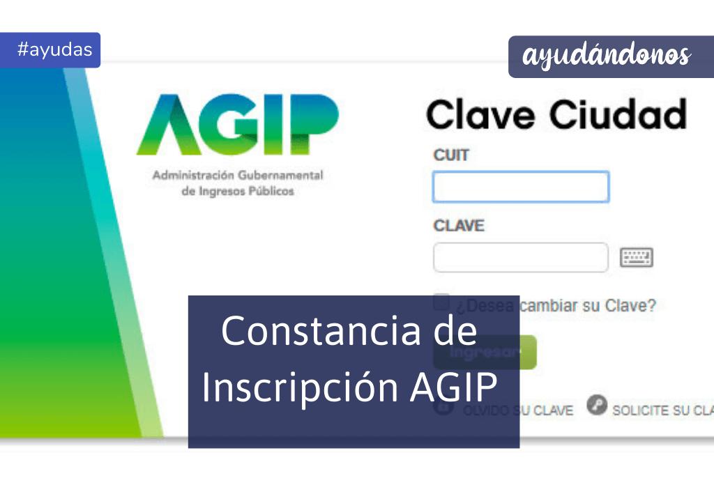 Constancia de inscripción AGIP
