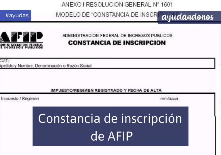 Constancia de inscripción de AFIP