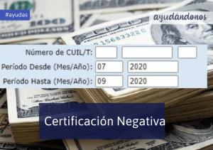certificación negativa