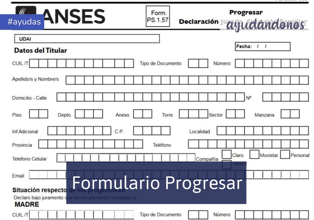 Formulario 2.87 Progresar
