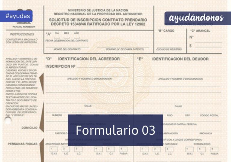 Formulario 03