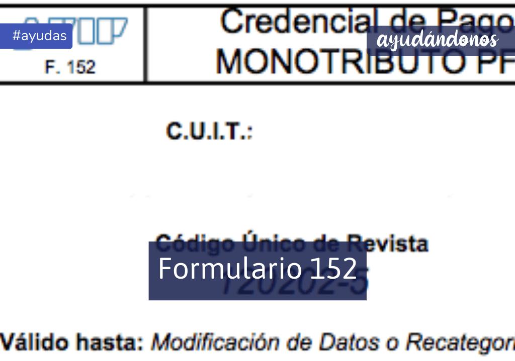 Formulario 152