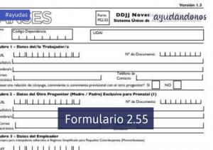 Formulario 2.55 Prenatal
