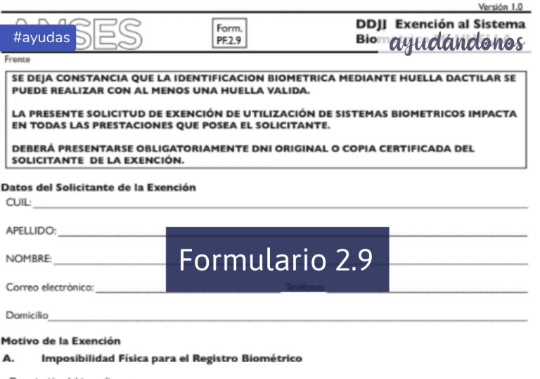 Formulario 2.9