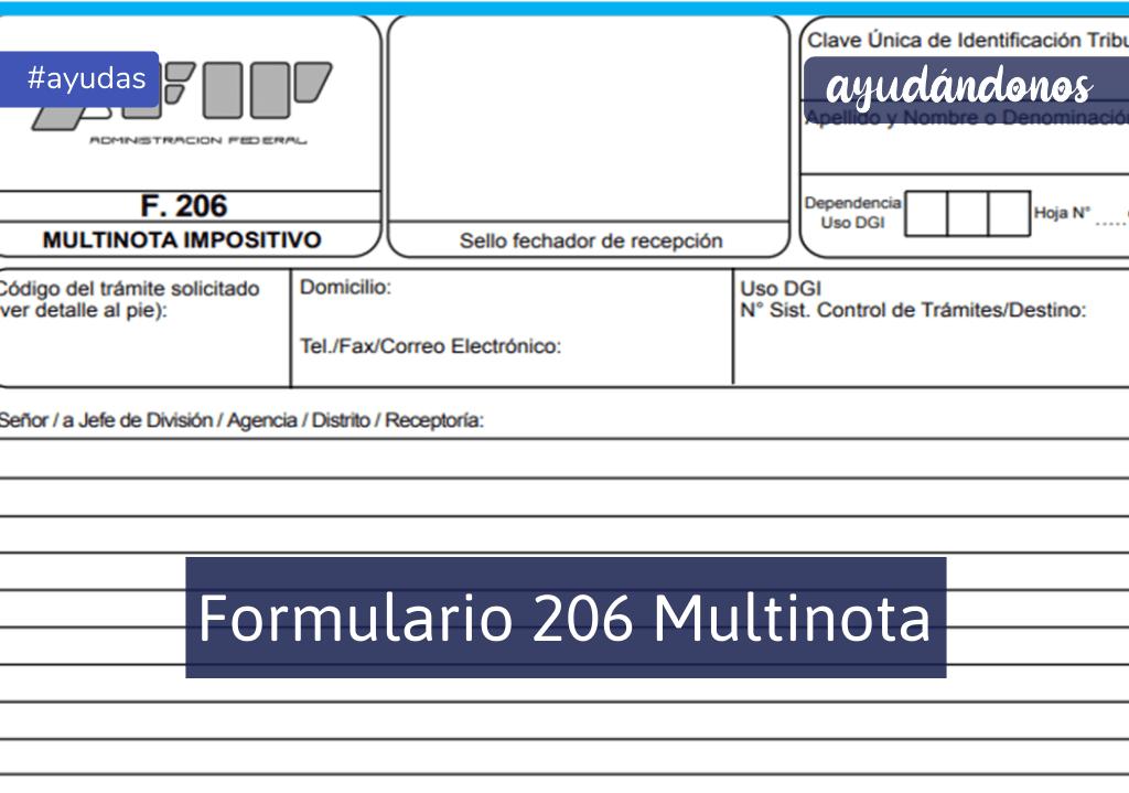 Formulario 206 multinota