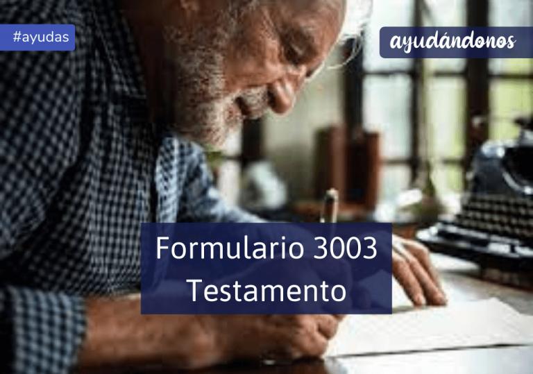 Formulario 3003