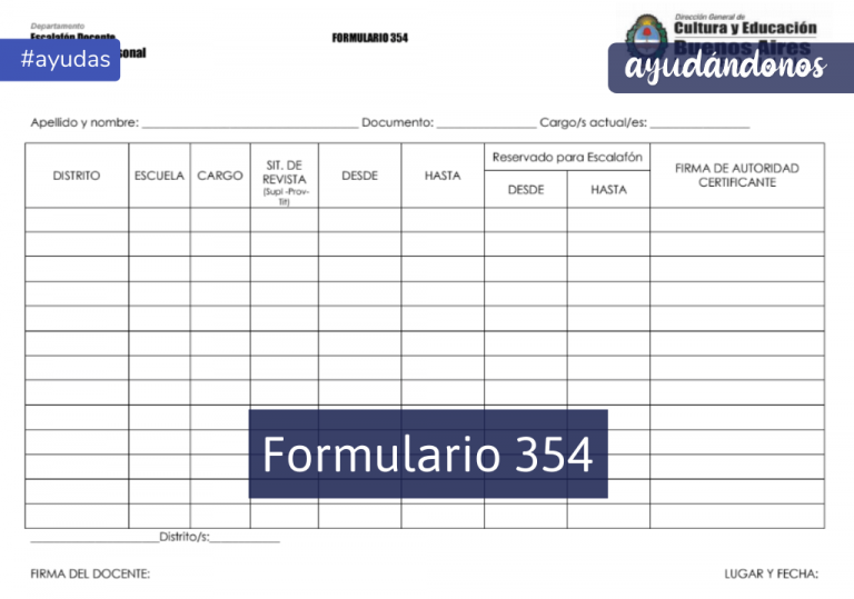 Formulario 354