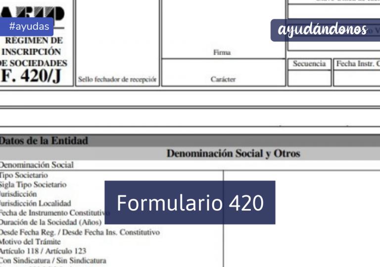Formulario 420