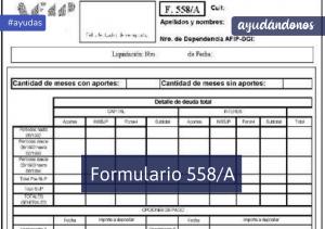 formulario 558/A
