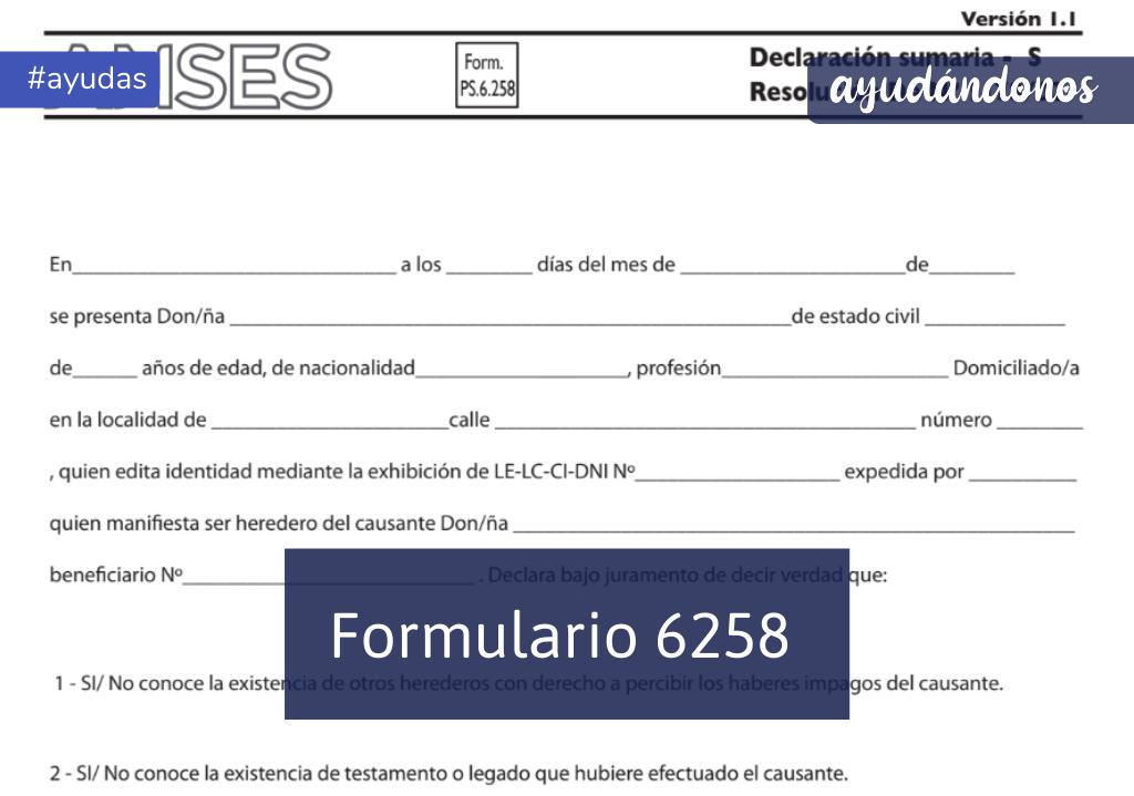 Formulario 6258
