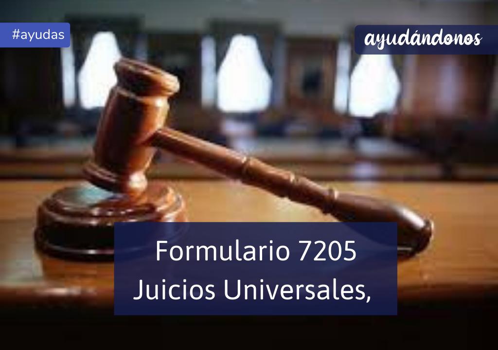 formulario 7205