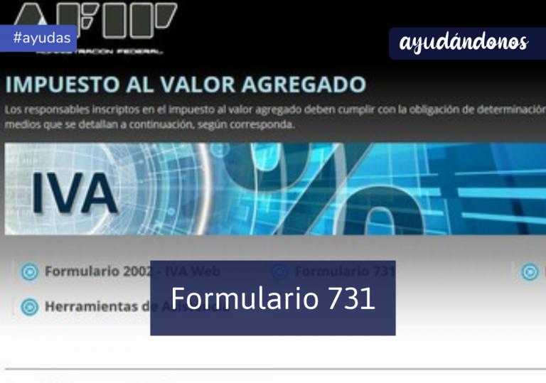 Formulario 731