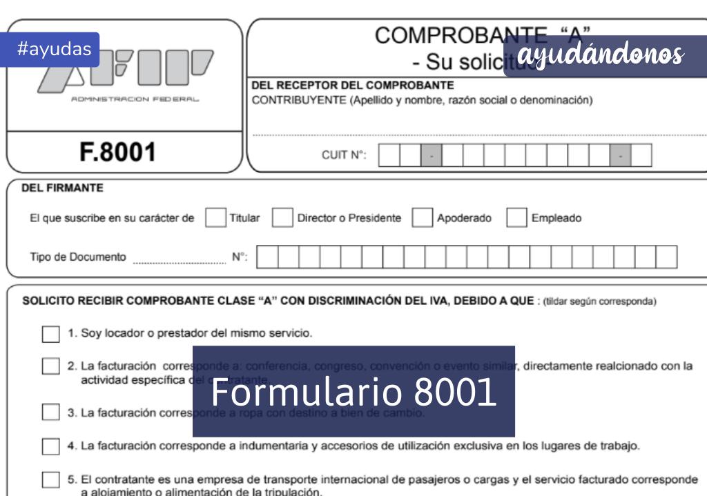 Formulario 8001