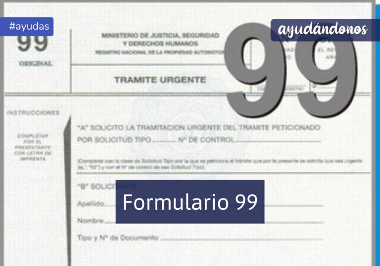 Formulario 99
