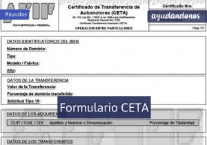 Formulario CETA