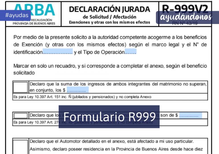 Formulario R999