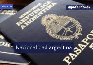 Nacionalidad argentina